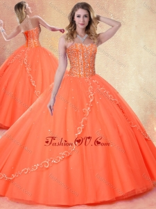 2016 Simple Ball Gown Sweetheart Beading Sweet 16 Dresses