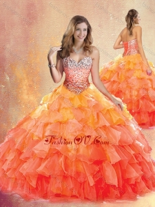 New Style Sweetheart Ball Gown Quinceanera Dresses with Ruffles