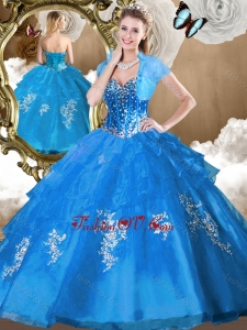 Perfect Ball Gown Sweet 16 Dresses with Beading and Appliques