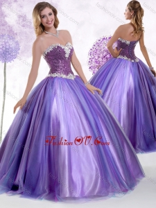 2016 Top Selling Ball Gown Sweet 16 Dresses with Beading and Sequins