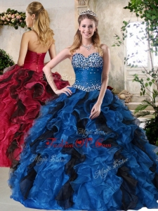 Top Selling Ball Gown Multi Color Best Sweet 16 Dresses with Beading and Ruffles