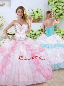 2016 Pretty Sweetheart Quinceanera Dresses with Beading and Pick Ups