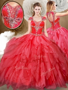 Hot Sale Sweetheart Beading and Red Quinceanera Dresses