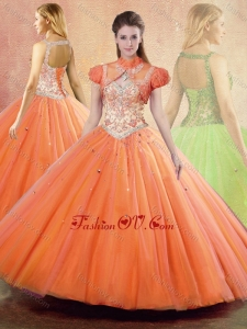 New Style Straps Open Back Quinceanera Dresses with Ruffles