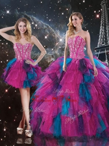 2016 Sweet Sweetheart Detachable Quinceanera Skirts with Beading