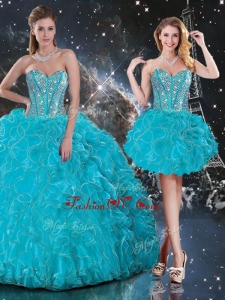 2016 Hot Sale Detachable Quinceanera Skirts with Beading and Ruffles