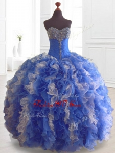 2016 Custom Made Beading and Ruffles Multi Color Quinceanera Dresses
