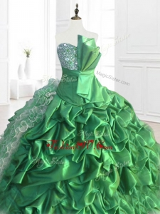 2016Custom Made Sequins and Ruffles Quinceanera Dresses with Pick Ups