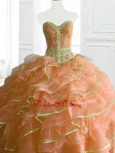 Custom Made Ball Gown Beading and Ruffles Sweet 16 Dresses for 2016