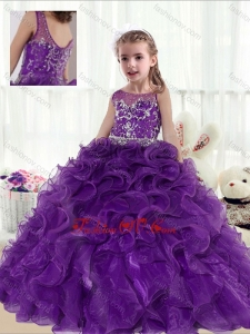 New Style Ball Gown Beading and Ruffles Little Girl Pageant Dresses