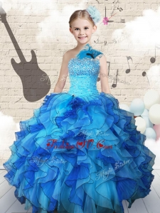 New Style Beading and Ruffles Little Girl Pageant Dresses in Multi Color