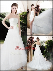 Exclusive Empire Sweetheart Wedding Dresses with Brush Train for 2016