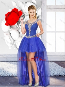 2016 Exclusive High Low Dama Dresses with Beading for Graduation
