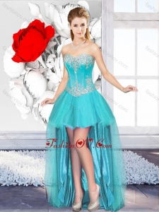 A Line Sweetheart Beautiful 2016 Dama Dresses with High Low