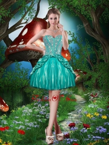2016 Pretty Sweetheart Beading Mini Length Prom Dresses for Cocktail