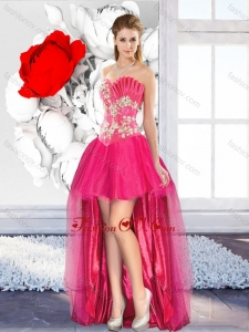 High Low Beaded Unique Prom Dresses with A Line