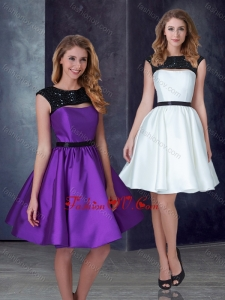 2016 Exclusive A Line Taffeta Prom Dress with Appliques and Belt