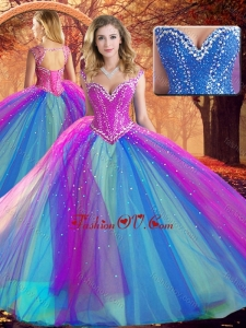 Fashionable V Neck Quinceanera Dresses with Beading