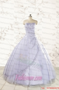 Brand New Lavender Quinceanera Dresses with Appliques and Ruffles