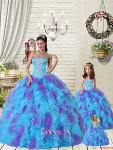 Organza Appliques Princesita Dress with Beading and Ruffels