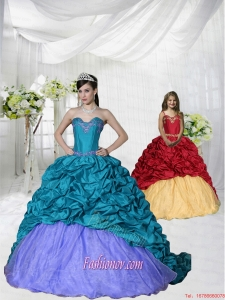 Discount Appliques Brush Train Blue and Purple Princesita Dress