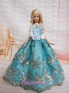 The Most Amazing Blue Dress With Sequins Made to Fit the Barbie Doll