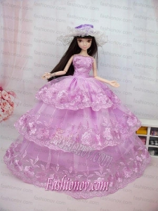 The Most Amazing Pink Dress With Embroidery Made To Fit the Barbie Doll