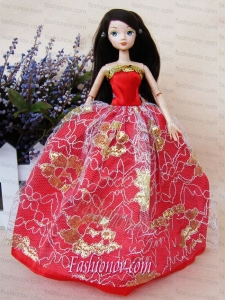The Most Amazing Red Dress with Sequins Made to Fit the Barbie Doll