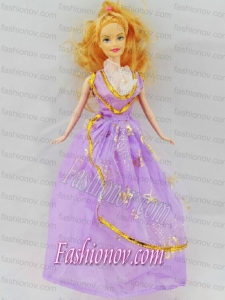 The Most Amazing Lilac Dress With Appliqes Made To Fit The Barbie Doll