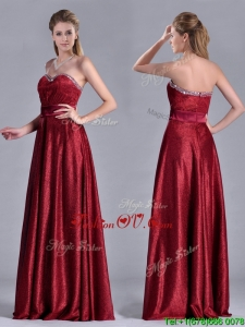 Classical Empire Sweetheart Wine Red Vintage Prom Dress with Beaded Top
