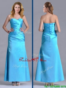 New Arrivals Sweetheart Aqua Blue Ankle Length Prom Dress in Taffeta