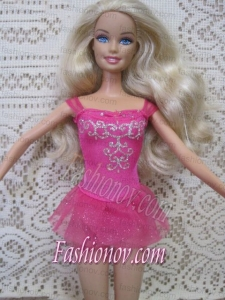 Sexy Short Handmade Mini-length Embroidery With Beading Party Dress For Barbie Doll