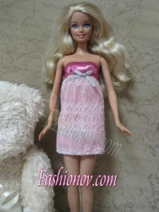 Sexy Short Mini-length Dress With Sequin Made To Fit the Barbie Doll