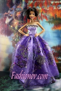 Appliques New Fashion Princess Pink Dress Gown For Barbie Doll