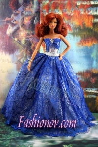 Fashion Royal Blue Dress For Barbie Doll