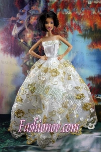Lace Sweet White Princess Dress For Barbie Doll Dress