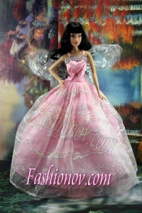 Pink Organza Ball Gown Made To Fit the Barbie Doll