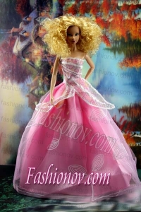 Pretty Pink Princess Dress For Barbie Doll