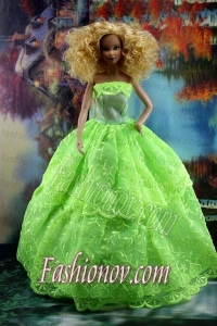 Spring Green and Lace For Amazing Barbie Doll Dress