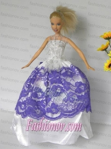 Free Shippment Barbie Doll Wedding Clothes Party Dresses Gown