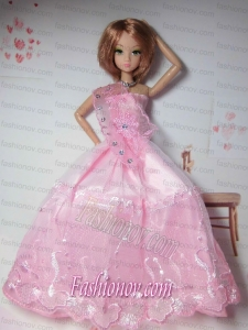 New Arrival Red Dress with Tulle Made to Fit the Barbie Doll