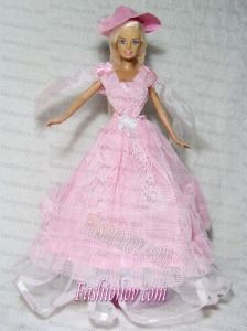 Pretty Pink Princess Dress Made to Fit the Barbie Doll