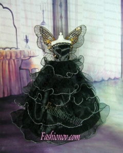 Sweet Lace Green Ruffled Layeres Party Clothes Fashion Dress for Noble Barbie