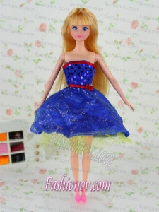 The Most Amazing Royal Blue Dress with Tulle Made to Fit the Barbie Doll