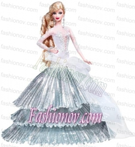 Elegant Party Dress With Special Made to Fit the Barbie Doll
