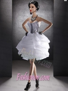 New Fashion Holiday Dress White Organza for Barbie Doll