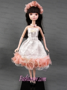 The Most Amazing WhiteTulle Party Dress with Made to Fit the Barbie Doll
