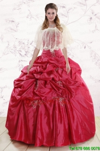 Best New Style Strapless Appliques Quinceanera Dresses