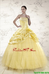 Best Yellow Sweetheart Ball Gown Quinceanera Dresses