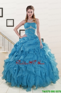 Luxurious Strapless Best Quinceanera Dresses with Beading and Ruffles